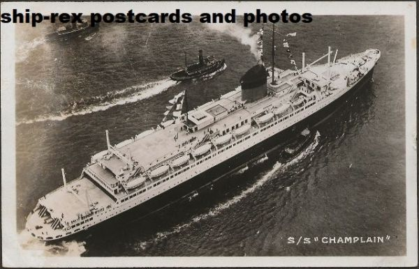 CHAMPLAIN (CGT/French Line) postcard (a1)
